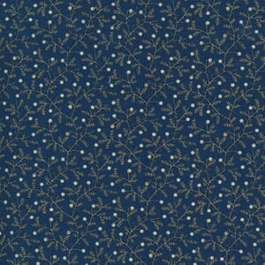 Moda Fabric Crystal Lane Berries and Bits Winter Blue 2983 15