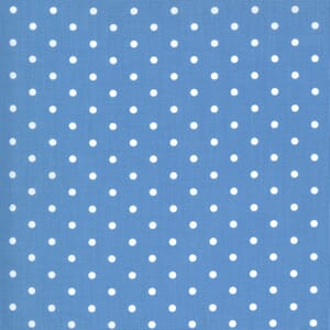 Moda Fabric Crystal Lane Snow Dots French Blue 2987 13