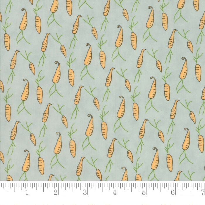 Moda Fabric Darling Little Dickens Carrots Puddle Green
