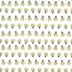 Moda Dwell in Possibility Metallic Tiny Bouquets Ivory