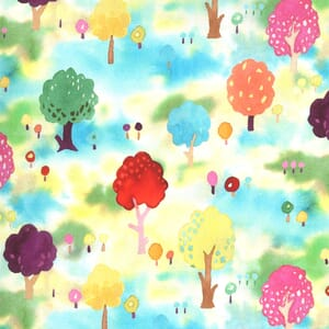 Moda Fabric Fanciful Forest Orchard Trees Multi 33572 12
