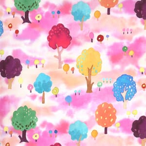 Moda Fabric Fanciful Forest Orchard Trees Petal 33572 16