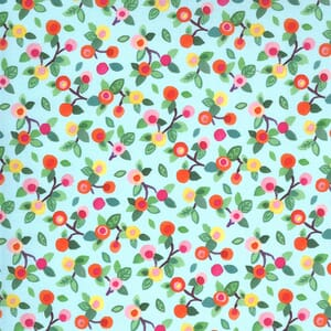 Moda Fabric Fanciful Forest Flower Blossoms Aqua 33574 17