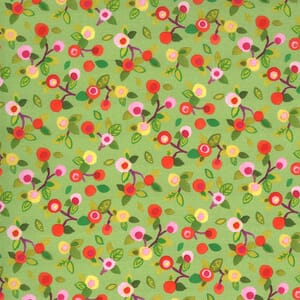 Moda Fabric Fanciful Forest Flower Blossoms Leaf 33574 18