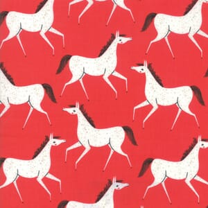 Moda Fabric Farm Charm Horses Red