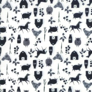 Moda Fabric Farm Charm Farm Cloud Black