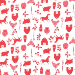 Moda Fabric Farm Charm Farm Cloud Red