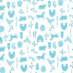 Moda Fabric Farm Charm Farm Cloud Pond