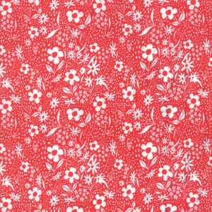Moda Fabric Farm Charm Flowers Red