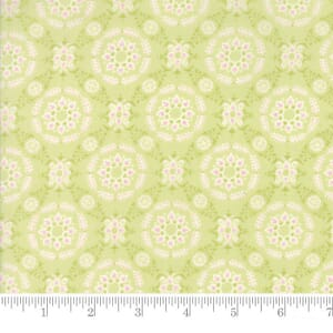 Small Image of Moda Fabric Fleurs Circle Lattice Sprout