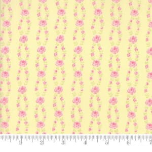 Small Image of Moda Fabric Fleurs Fleur Stripe Buttercup