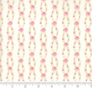 Small Image of Moda Fabric Fleurs Fleur Stripe Natural
