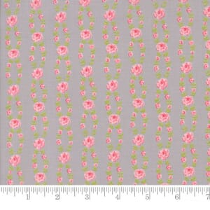 Small Image of Moda Fabric Fleurs Fleur Stripe Pebble