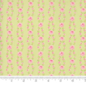 Small Image of Moda Fabric Fleurs Fleur Stripe Sprout