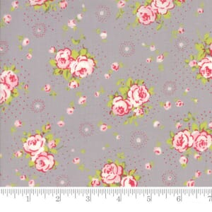 Small Image of Moda Fabric Fleurs Petite Bouquet Pebble