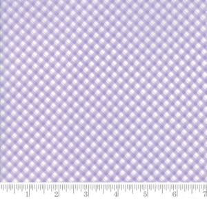 Small Image of Moda Fabric Fleurs Pinstripe Gingham Wisteria