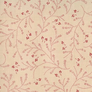 Moda Fabric French General Favourites Clochette Red Natural