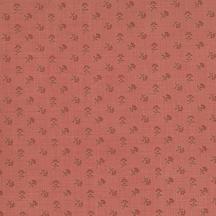 Moda Fabric French General Favourites Floral Faded Red