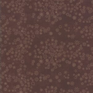 Large Image of Moda Fabric Frosted Flannel Walnut Snowflakes