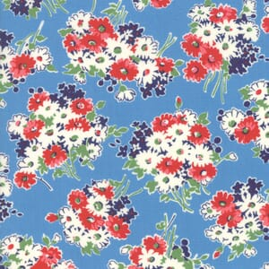Moda Fabric Good Times Flowers Blue