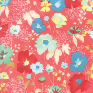 Moda Fabric Gypsy Soul Flowers Mango