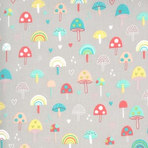 Moda Hello Sunshine Mushrooms Cloudy