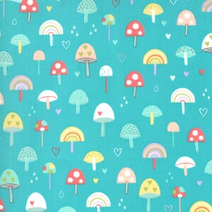 Moda Hello Sunshine Mushrooms Aqua