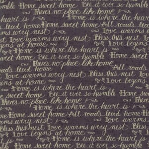 Moda Fabric Home Words Black