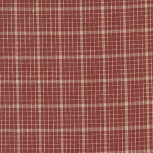 Homemade Homespuns Woven Flannel Check Red 9660 22