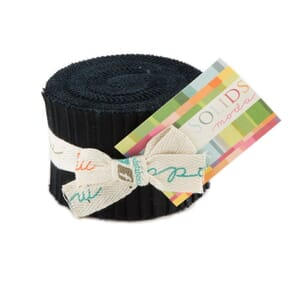 Small Image of Moda Fabric Junior Jelly Roll Bella Solid Black