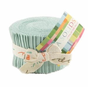 Small Image of Moda Fabric Junior Jelly Roll Bella Solid Home Town Sky
