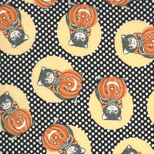 Moda Fabric Kitty Corn Kitty Midnight 31171 17