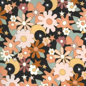 Moda Fabric Kitty Corn Twilight Garden Midnight 31172 17