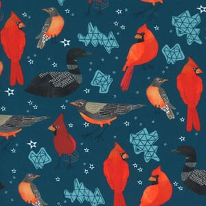 Moda Lakeside Story Midwest State Birds Sailcloth