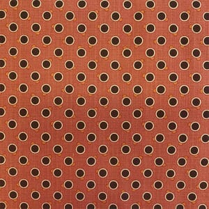 Moda Fabric Lancaster Dots Rust