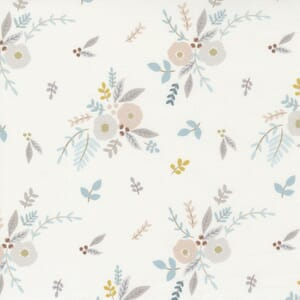 Moda Fabric Ducklings Floral Bouquet White 25101 11