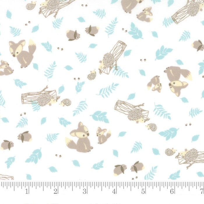 Moda Fabric Lullaby Woodland Critters Cloud
