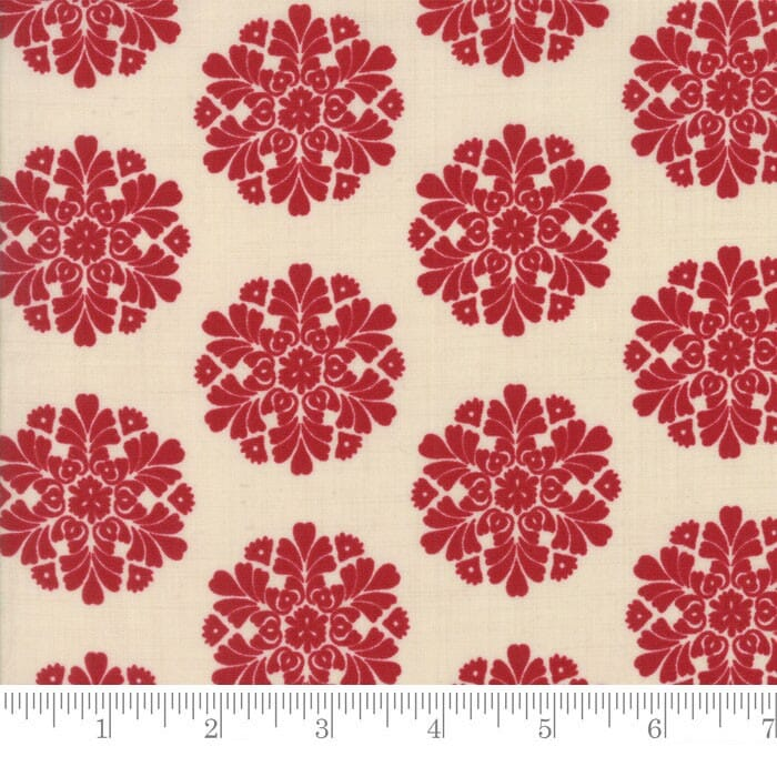 Moda Fabric Madame Rouge Soleil Pearl Rouge