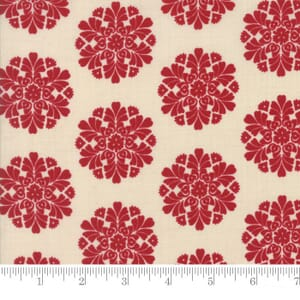 Small Image of Moda Fabric Madame Rouge Soleil Pearl Rouge