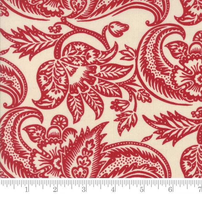 Moda Fabric Madame Rouge Terre Pearl Rouge