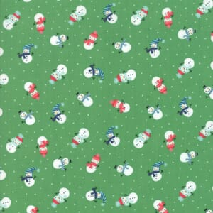 Large Image of Moda Fabric Snow Day Snowman Kelly