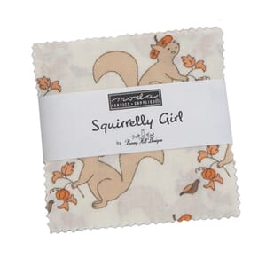 Moda Squirrelly Girl Mini Charm