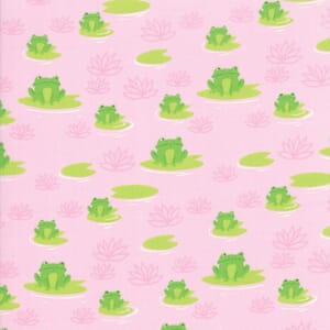 Moda Fabric Sunday Picnic Frogs Pink