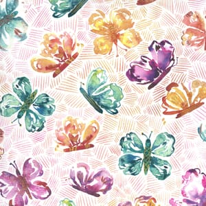 Moda Fabric Sunshine Soul All Aflutter Butterflies Sunset 8462 14
