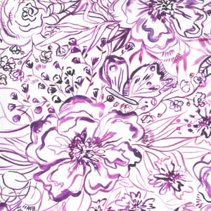 Moda Fabric Sunshine Soul Passion Flowers Ultra Violet 8467 11