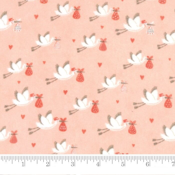 Moda Fabric Sweet Baby Flannel Special Delivery Blossom