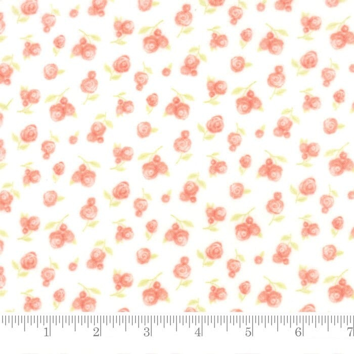 Moda Fabric Sweet Baby Flannel Sweet Roses Blossom Cloud