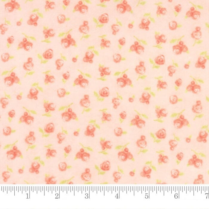 Moda Fabric Sweet Baby Flannel Sweet Roses Blossom