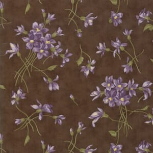 Large Image of Moda Fabric Sweet Violet Spray Earth