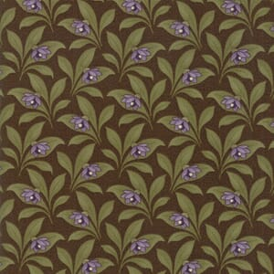 Large Image of Moda Fabric Sweet Violet Leaves Earth